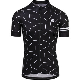 AGU Hail Shortsleeve Jersey Herrer, black/white